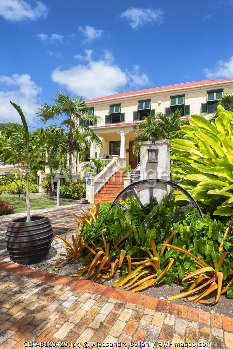Sunbury Plantation House, the first colonial house of  Barbados Island, Lesser Antilles, West Indies