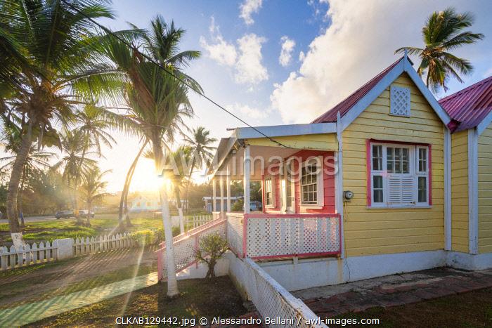 Typical house of Batsheba village, Batsheba, Barbados Island, Lesser Antilles, West Indies