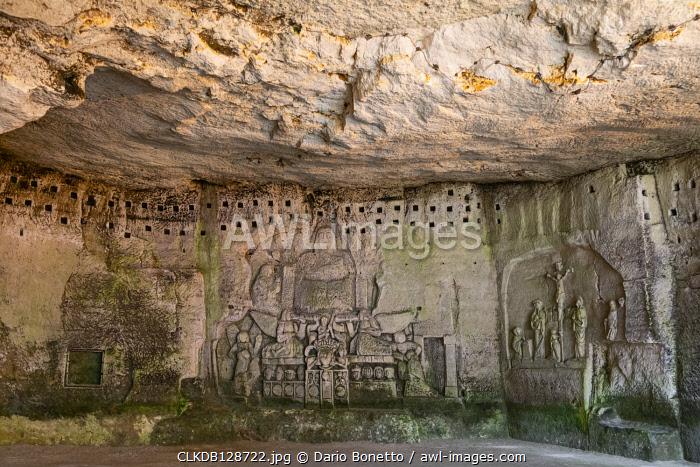 France, Dordogne, Perigord, Brantome, troglodyte caves