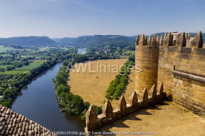 Dordogne, Perigord, Beynac-et-Cazenac, France. Castle of Beynac