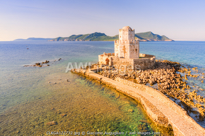 The venetian medieval fortress of Methoni, Messenia Region, Peloponnese, Greece
