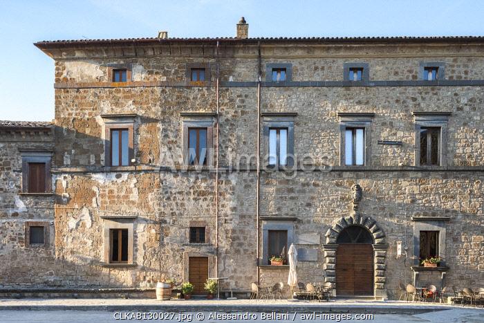 Typical house of Civita od Bagnoregio, Viterbo Province, Lazio, Italy