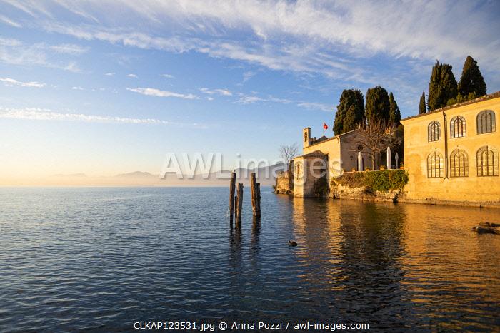 Punta San Vigilio, Verona province, Veneto, Italy Old estate overlooking Garda lake