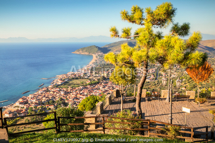 The view of the Cilentan Coast from Belvedere San Costabile, Cilento, Salerno province, Campania, Italy