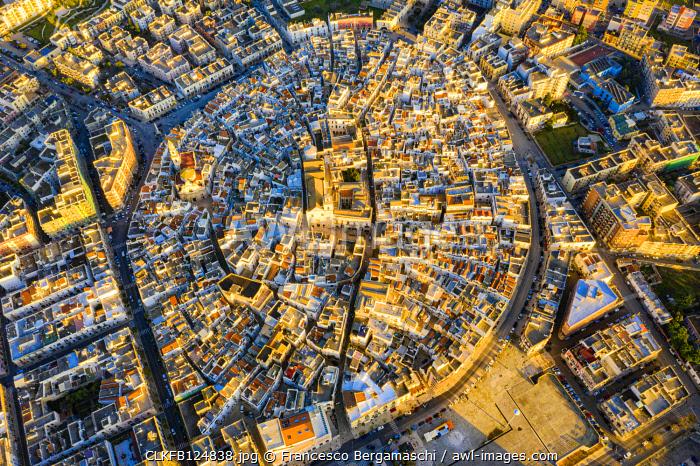 Aerial zenithal view of Putignano. Putignano, Apulia, Italy