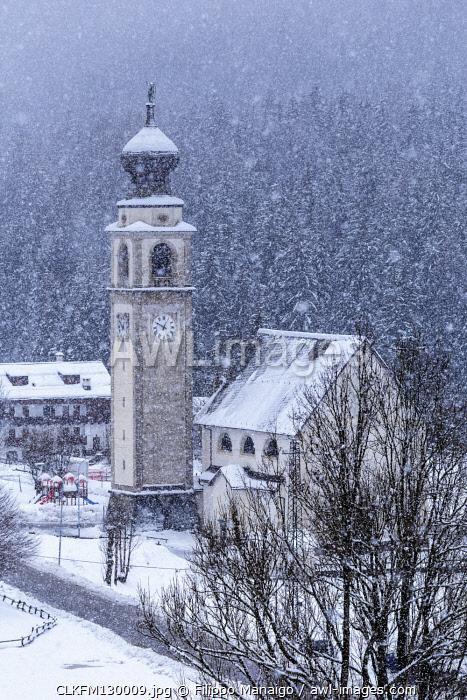 Italy,Veneto,Belluno district,Boite Valley,the Church of Saints Simone and Taddeo in Borca di Cadore