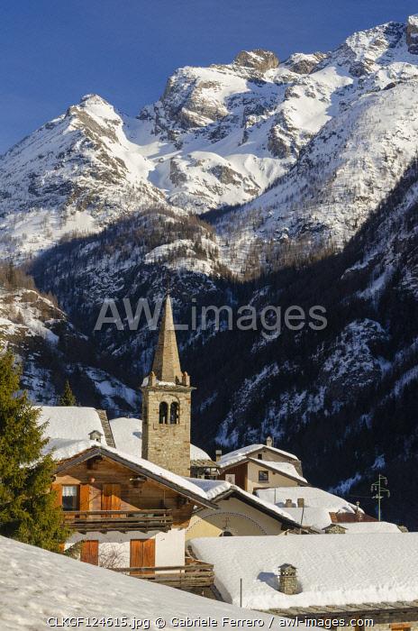 Plan de Veyne village in Valpelline, Bionaz, Aosta Valley, Italy