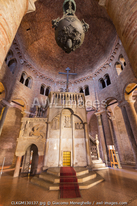 Interior of Sacro Sepolcro church in Santo Stefano cathedral. Le sette chiese square, Bologna, Emilia Romagna, Italy