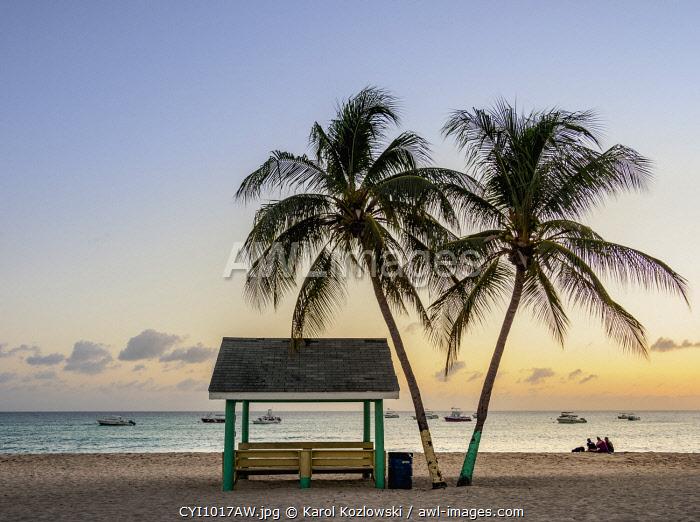 Seven Mile Beach at dusk, West Bay, Grand Cayman, Cayman Islands