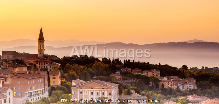 Italy. Umbria. Perugia. The historical centre of the town of Perugia.