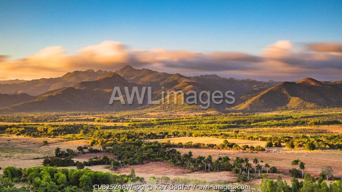 Escambray Mountains and Trinidad valleys at sunset, Sancti Spritus, Cuba