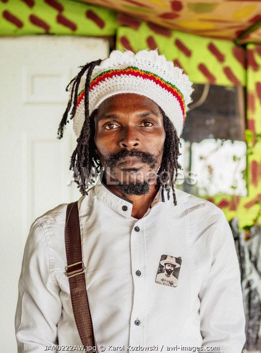 Rasta Man at Rastafarian Community, Blue Mountains, Saint Andrew Parish, Jamaica