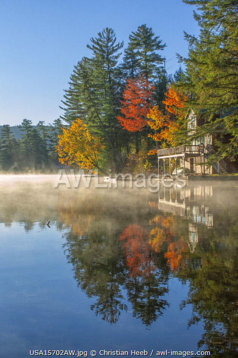 USA, New England, Indian Summer, East, Vermont, Ludlow, Echo lake