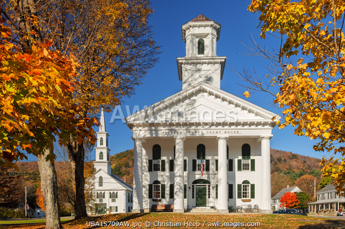 awl-images.com - USA / USA, New England, Indian Summer, East, Vermont, Windham county, Newfane,