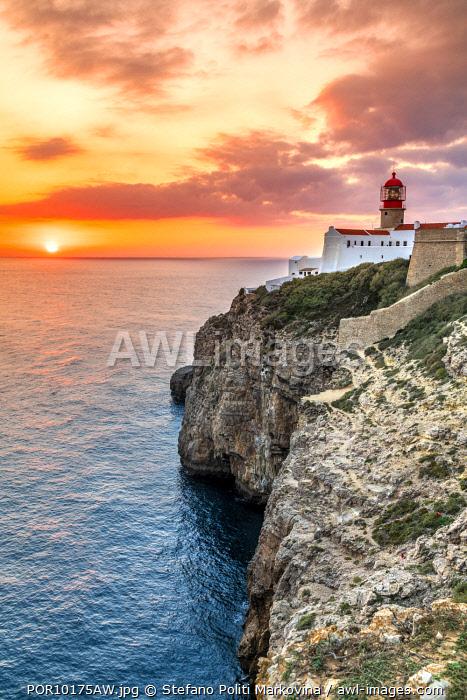 Cape St. Vincent or Cabo de Sao Vicente, Vila do Bispo, Algarve, Portugal