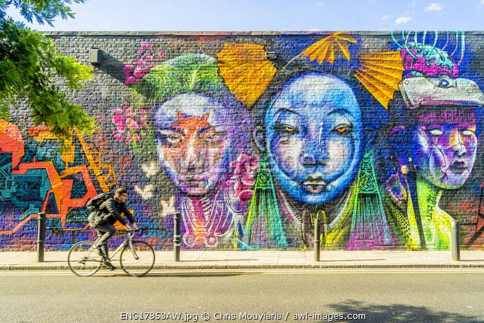 Street art, Hanbury Street, Shoreditch, London, England, Uk