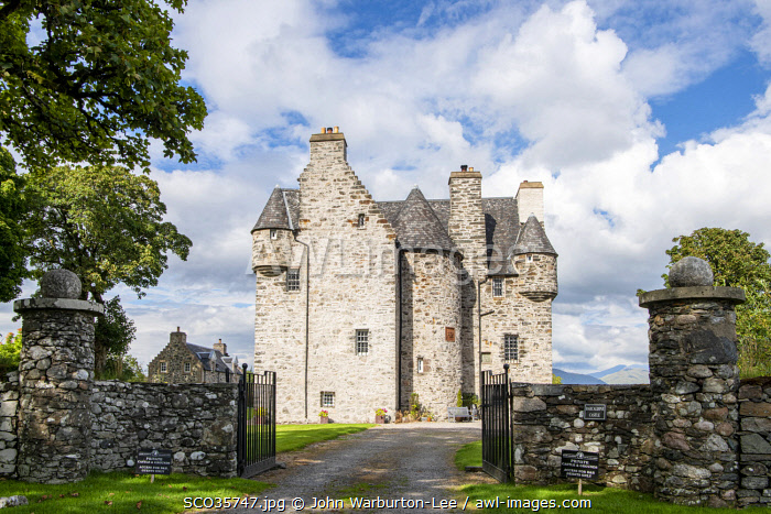 awl-images.com - Scotland / UK, Scotland, Argyll. Barcaldine Castle is a 17th C castle keep built by Sir Duncan Campbell of Glenorchy.
