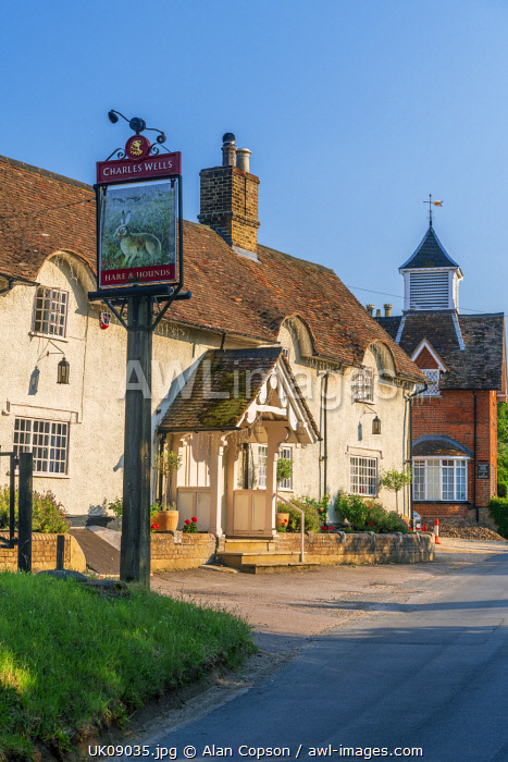 UK, England, Bedfordshire, Old Warden, The Hare and Hounds Public House