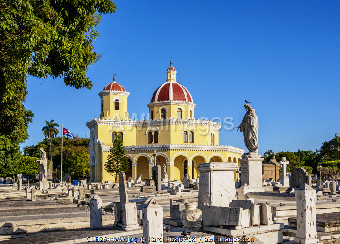 Central Chapel, Necropolis Cristobal Colon, Vedado, Havana, La Habana Province, Cuba