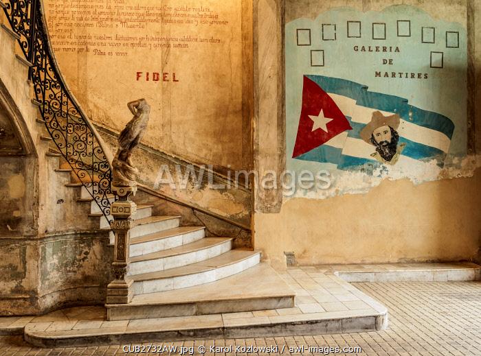 La Guarida Restaurant entrance hall, Calle Concordia, Centro Habana, Havana, La Habana Province, Cuba