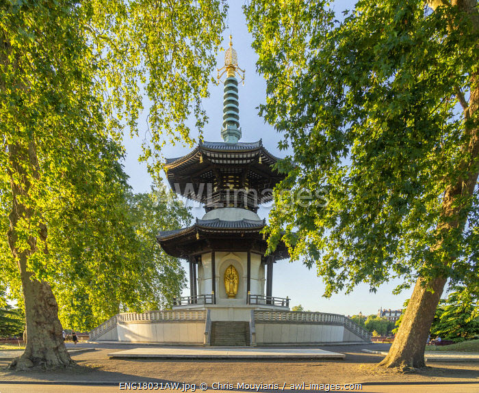 The London Peace Pagoda, Battersea Park, London,England, UK