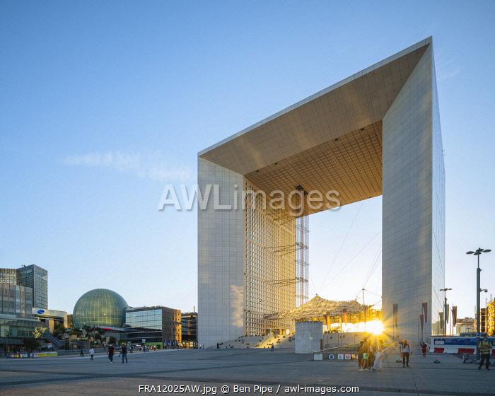 La Grande Arche, La Defense, Puteaux, Paris, France