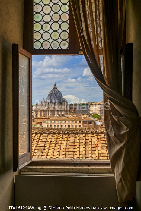 View over St. Peter's Basilica, Rome, Lazio, Italy