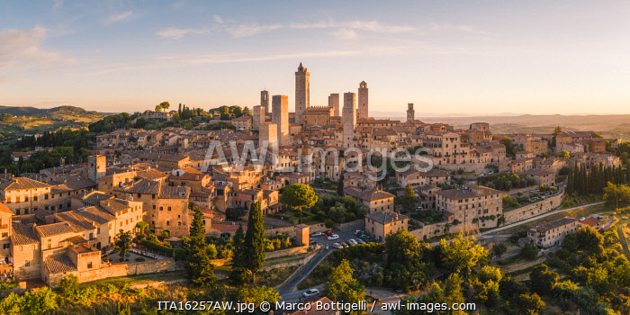 San Gimignano, known as the Town of Fine Towers, Siena province, Tuscany, Italy.