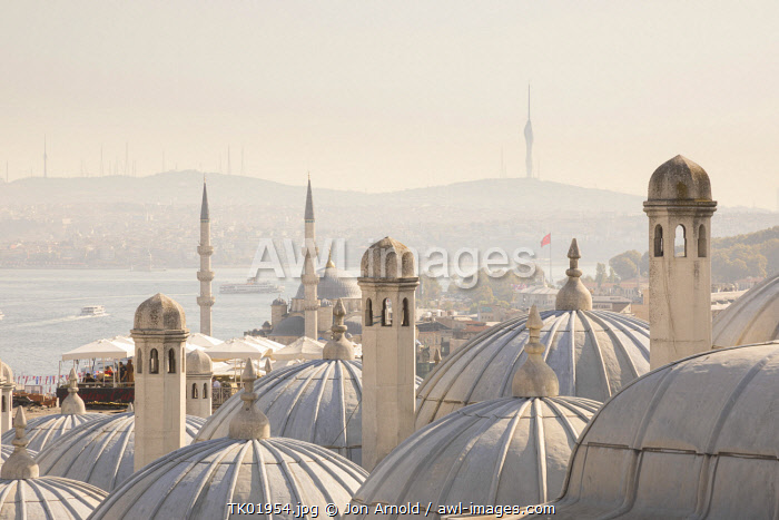 awl-images.com - Turkey / View across the Bosphorus from the Suleymaniye Mosque & Bosphorus, Istanbul, Turkey