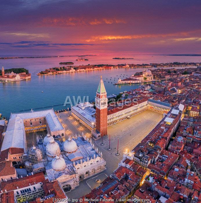 Italy, Veneto, Venice, Aerial view of St Mark's square