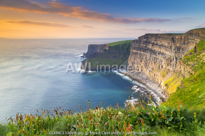 awl-images.com - Ireland / View of a sunset at the Cliffs of Moher. County Clare, Munster province, Ireland.