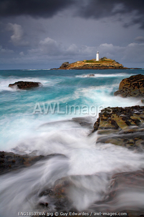 awl-images.com - England / Godrevy Lighthouse, St. Ives Bay, Cornwall, England