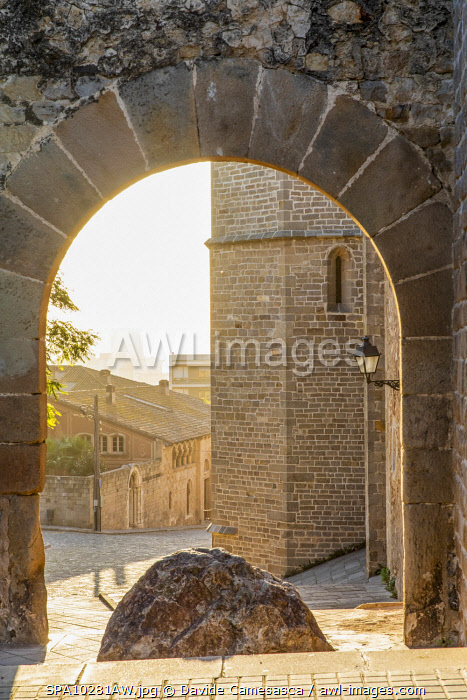 awl-images.com - Spain / Spain, Catalonia, Barcelona, Pedralbes Monastery, Access door to the monastery.