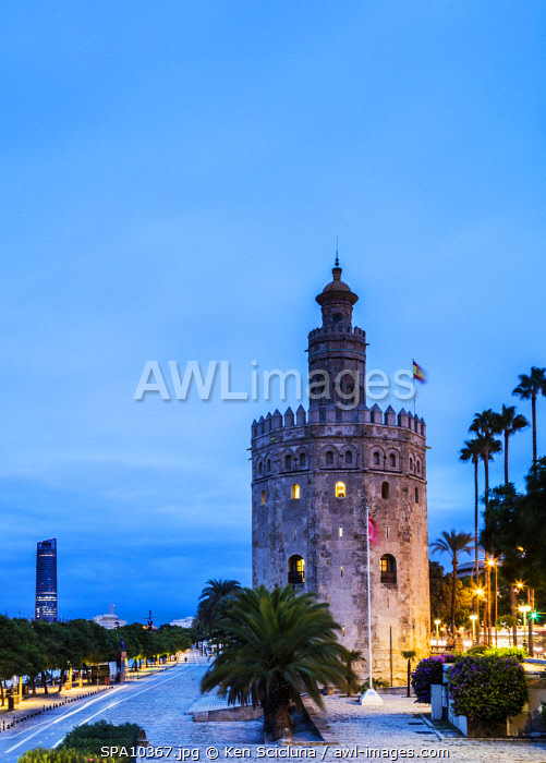 awl-images.com - Spain / Spain. Andalusia. Seville. The Torre del Oro.