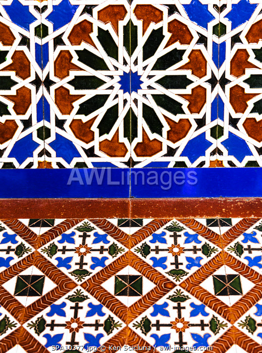 awl-images.com - Spain / Spain. Andalusia. Seville. Andalusian Majolica with ornamental patterns.