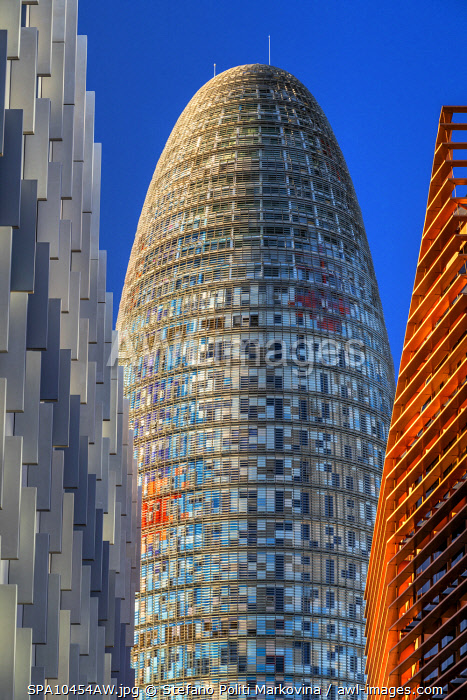 awl-images.com - Spain / Torre Glories formerly known also as Torre Agbar, Barcelona, Catalonia, Spain