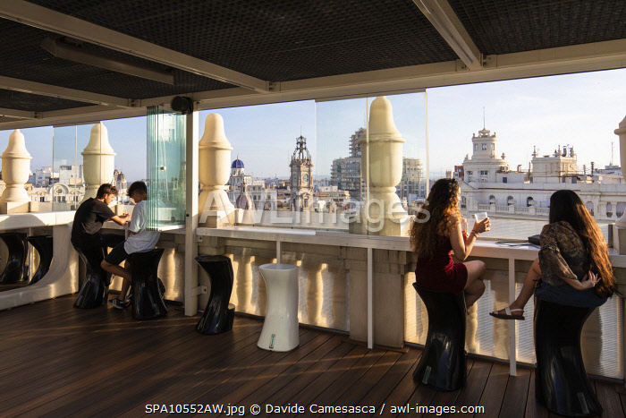 awl-images.com - Spain / Spain, Comunidad Valenciana, Valencia, The terrace of Ateneo Mercantil.