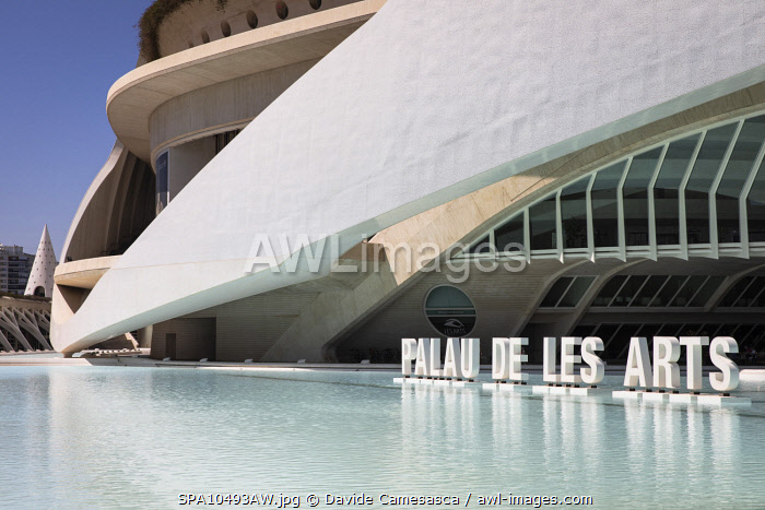 awl-images.com - Spain / Spain, Comunidad Valenciana, Valencia, The Arts Palace building in the City of Arts and Sciences.