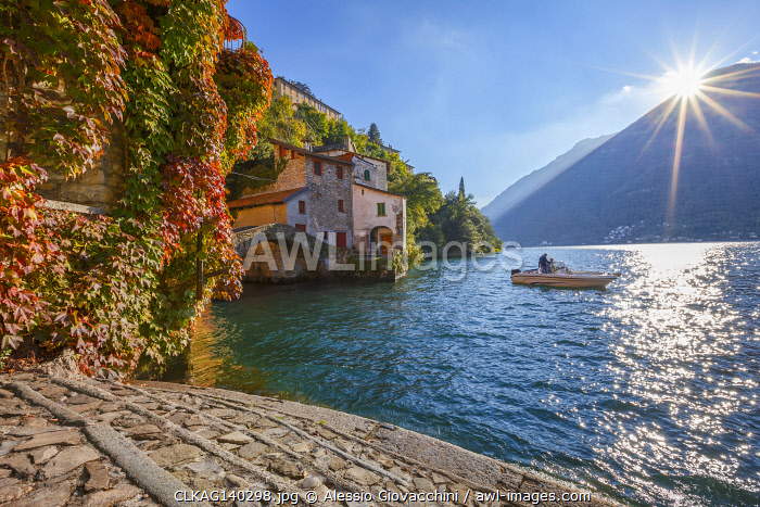 awl-images.com - Italy / Nesso village in Autumn time, lake Como, Como province, Lombardy, Italy, Europe