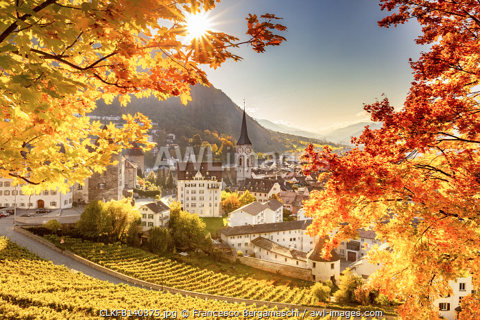 awl-images.com - Switzerland / Old town of Chur in autumn. Chur, Canton of Graubunden, Switzerland.
