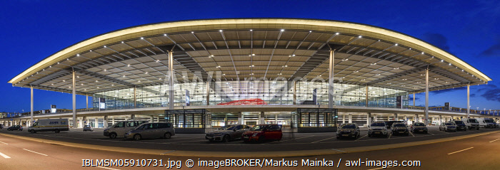 awl-images.com - Germany / Departure hall, dusk, New Berlin Brandenburg Airport BER Willy Brandt Airport Terminal 1, Berlin, Germany, Europe