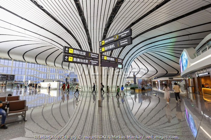 awl-images.com - China / Terminal of the new Beijing Daxing New International Airport (PKX), Beijing, China, Asia