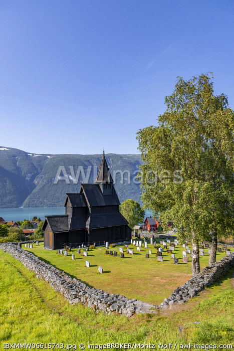 awl-images.com - Norway / Urnes Stave Church and Cemetery, UNESCO World Heritage Site, Romanesque church from ca. 1130, Vestland, Norway, Europe