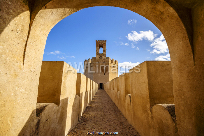 awl-images.com - Spain / Famous tower in moorish fortified castle called Torre espantaperros, Alcazaba, Badajoz, Spain, Europe